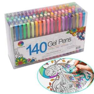 Fluorescent-Gel-Ink-Pen-Refills-Watercolor-Brush-Colorful-Stationery-Neon-Set