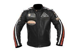Leather-Vintage-Retro-Style-Motorcycle-Motorbike-CE-Armoure-Protection-Jacket