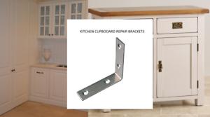 REPAIR BRACKETS KITCHEN SIDEBOARD  DRAWS BRACES ZINC PLATED 39 mm X 39 mm X 16mm