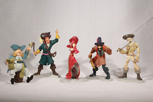 Disney Parks Pirates of the Caribbean Figures Set Cake Topper Toys REDHEAD