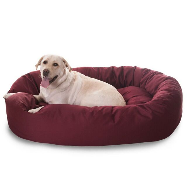 Pleasing Majestic 52 Inch Round Dog Pet Large Breed Xl Bagel Bed 70 110 Lbs Dogs Blue For Sale Online Ebay Machost Co Dining Chair Design Ideas Machostcouk