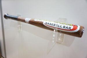 Single Baseball Bat Display Decorative Holder Wall Mount Rack Acrylic Finish