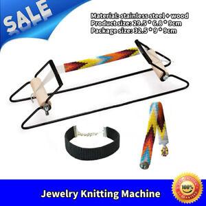Perles-Tissage-Beading-machine-de-bricolage-Bandeau-Porte-cles-tissage-perles-Outil