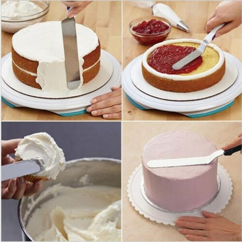 6//8//10 inch Stainless Steel Spatula Straight Icing Handle Cake Baking Decorating