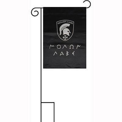 "12x18 12/""x18/"" Molon Labe Spartan Greek Double Sided Sleeved w// Garden Stand Flag"