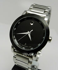 Men's Authentic Swiss Movado 42mm Museum Sport 0606604 Black PVD Stainless Watch