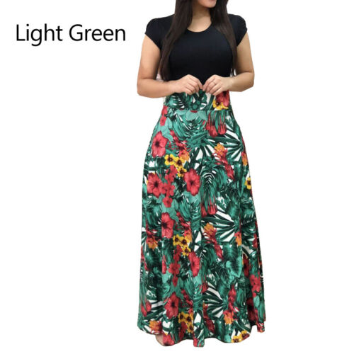 Women Floral Maxi Dress Evening Prom Summer Beach Long Sundress Fashion S-3XL US