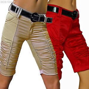 Preiswert Kaufen Caprihose Kurze Hose Raffhose Bermuda Shorts Mit Lackgürtel 34 36 Hellbeige HeißEr Verkauf 50-70% Rabatt