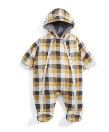 Mamas and Papas Boys Checked Pramsuit 9-12 months RRP£45 Best Price UK Seller