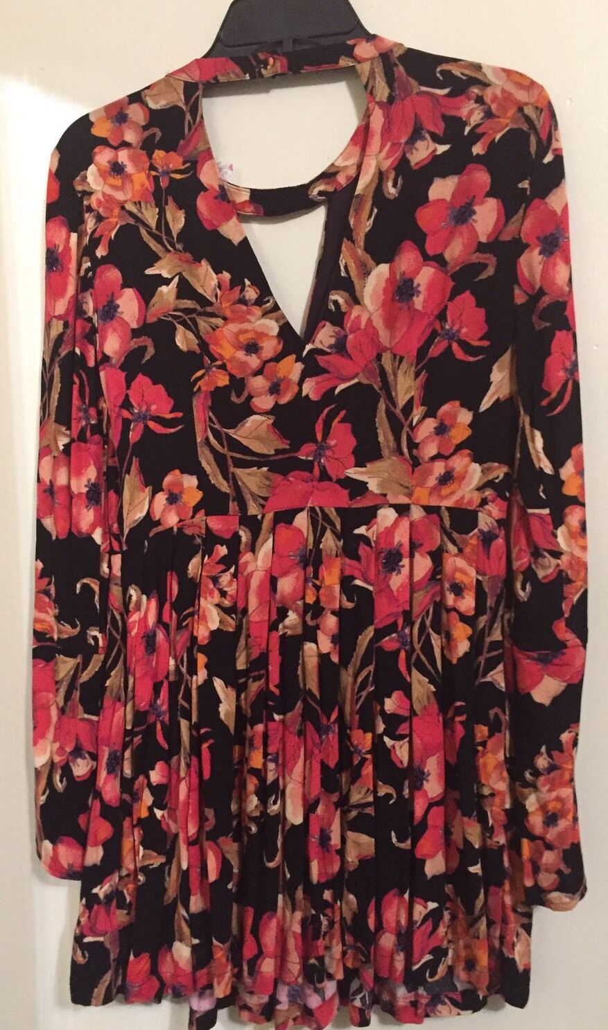 Free People Printed Cutout Mini Dress In schwarz Combo Größe 6 NWT OB53652