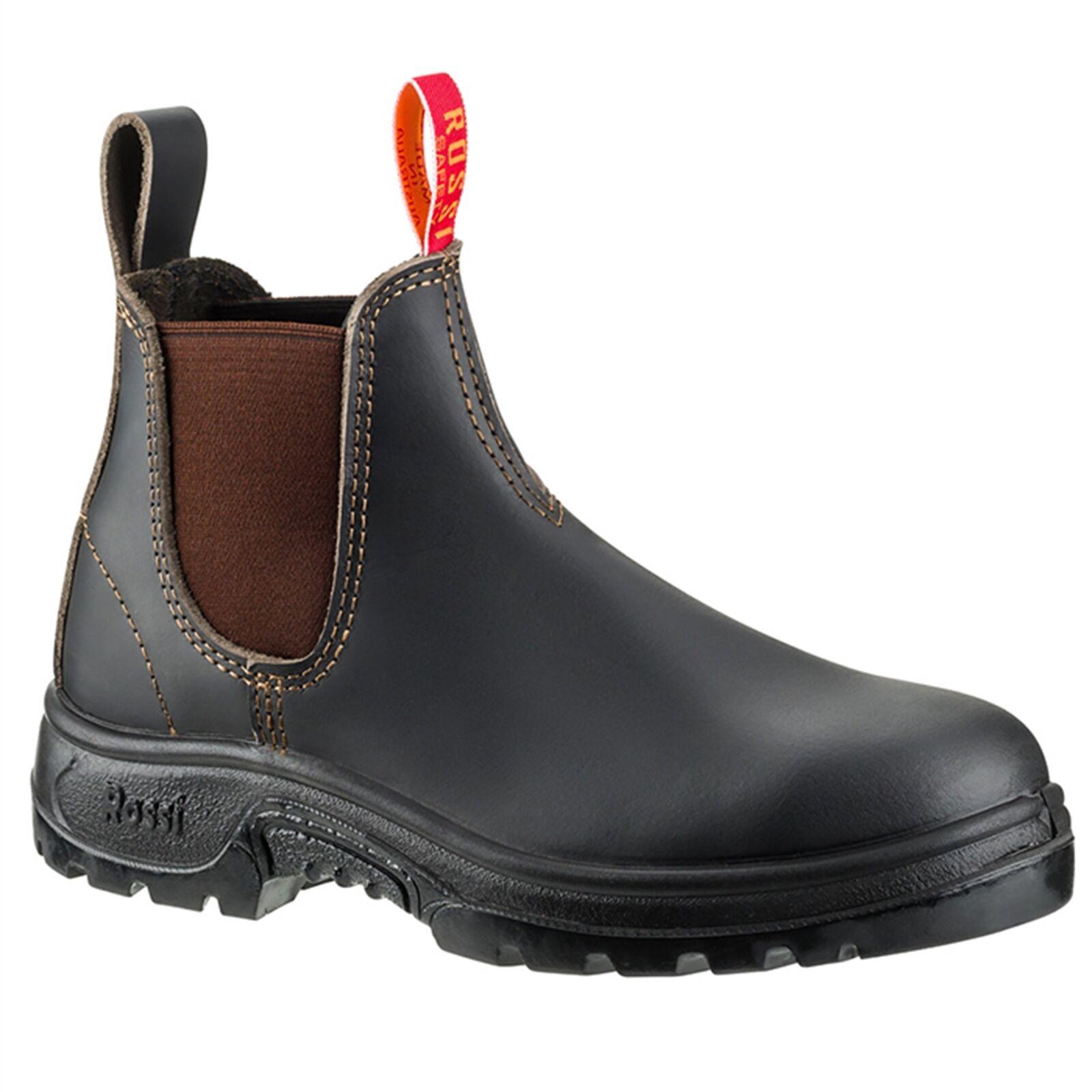 Tapa De Acero Cara Rossi botas Elástico botas de trabajo, clarete  AUS Made-US 10, 11 o 12