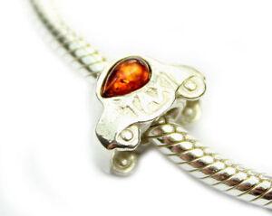 Lovely-925-Sterling-Silver-amp-Baltic-Amber-Designer-Charm-CHA012