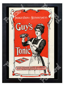 Historic-Guy-039-s-Tonic-Co-London-c-1890-Advertising-Postcard