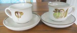 Denby-Troubadour-Tea-Cups-amp-Saucers-Pair-12-99-Post-Free-UK