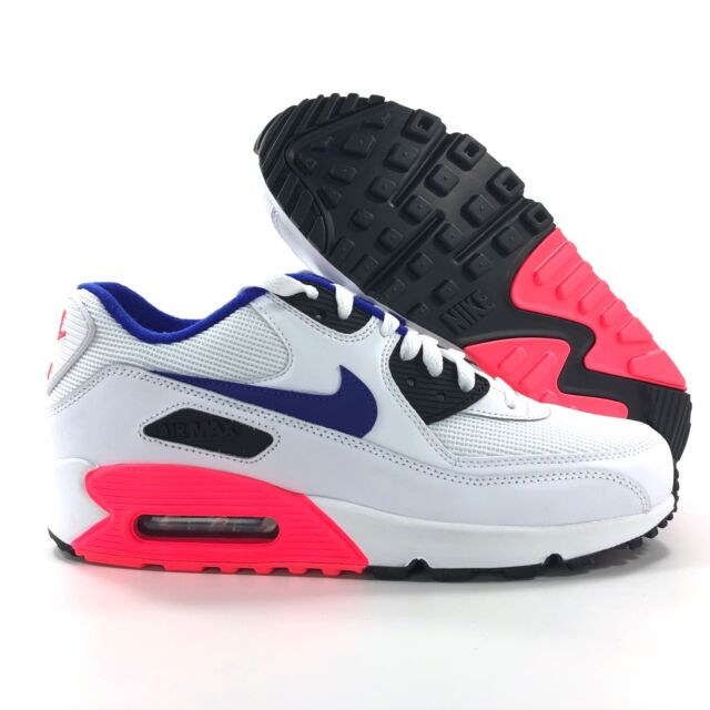 dc4e2adc7b Nike Air Max 90 Essential Ultramarine Blue White Solar Red 537384-136 Mens  7.5-