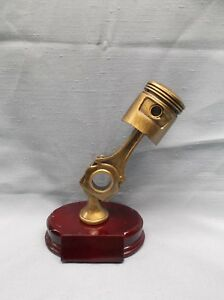 Car Show Piston Trophy Gold Color Resin Award Red Base EBay - Piston car show trophies