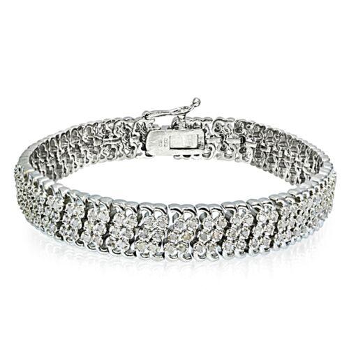 2.00 CTTW Miracle Set Diamond Studded Tennis Bracelet