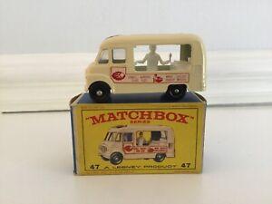 Matchbox-Lesney-47B-Commer-Helado-Cantina-amp-E-Tipo-Caja-agua-peptonada-tamponada