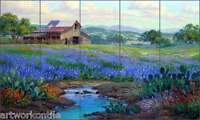 Ceramic Tile Mural Backsplash Senkarik Texas Landscape Art 21.25x12.75 Msa152