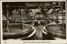 Guinness Beer Beer Brewery c1915 Real Photo Postcard #5 myn MASH TUNS FOR MALT