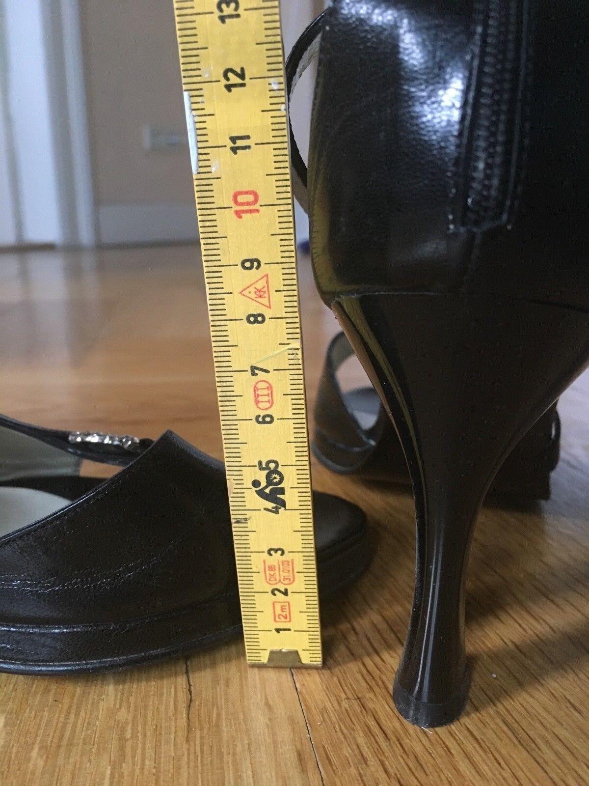 Pierre Cardin High Heels Designer Pumps Sandaletten schwarz schwarz 40 Designer Heels Stilette da5417