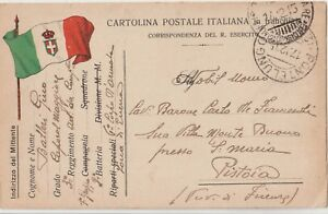 ITALY 1915 FRANCHISE.CORRESPONDENCE OF ARMY.FLAG OF ITALY.FROM PONTELUNGO - Italia - ITALY 1915 FRANCHISE.CORRESPONDENCE OF ARMY.FLAG OF ITALY.FROM PONTELUNGO - Italia