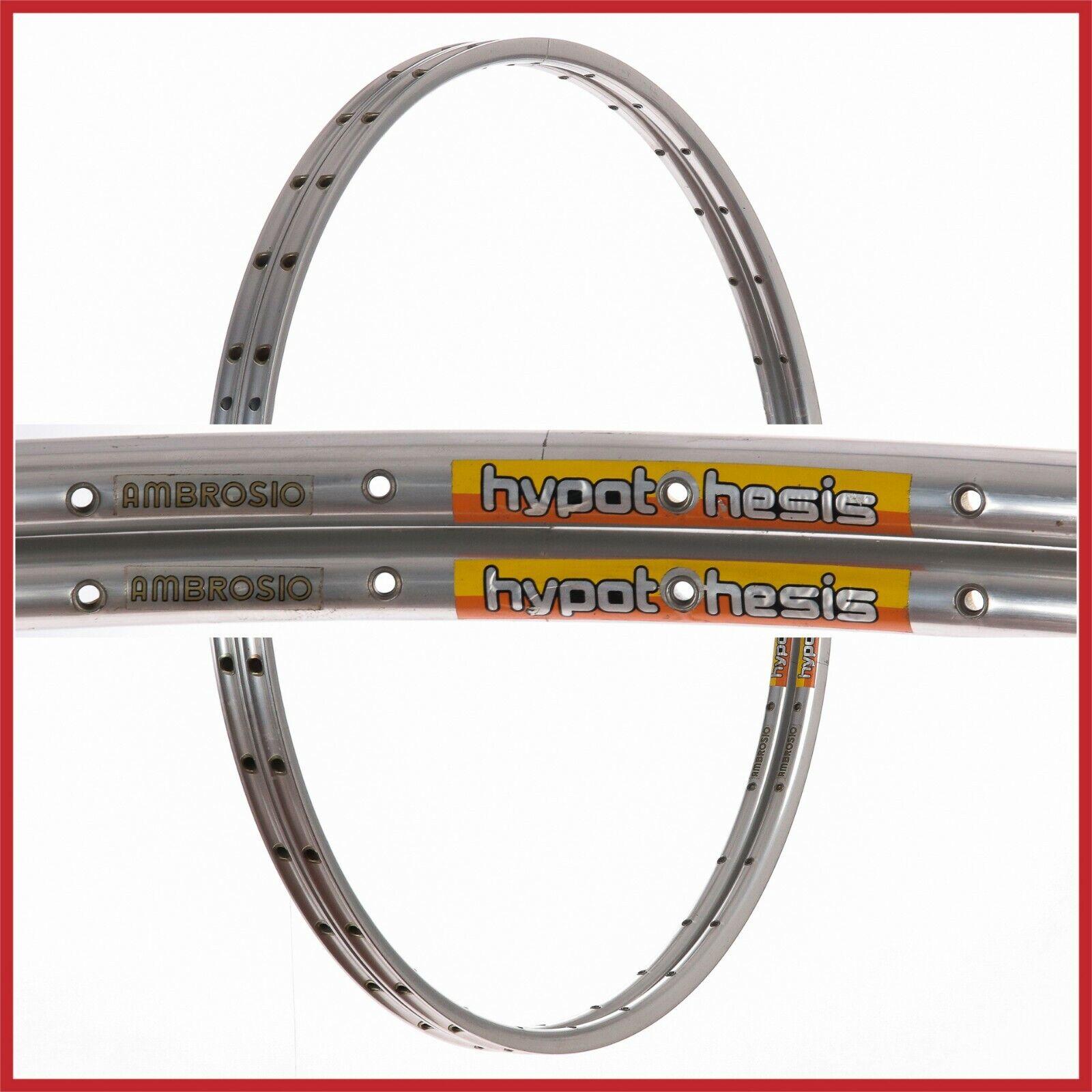 NOS AMBROSIO HYPOTHESIS RIMS 28  700c 32H VINTAGE TUBULARS AERO ROAD Fahrrad 80s