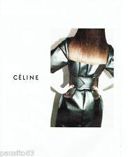 PUBLICITE ADVERTISING 096  2012  Céline    haute couture robe cuir