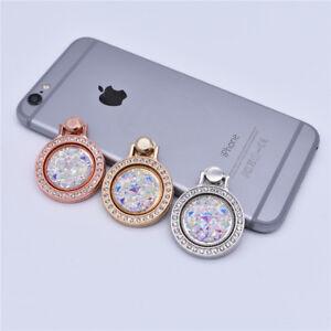 Metal-Cell-Phone-Crystal-gemstones-Holder-Round-360-Ring-Stand-Finger-Bracket