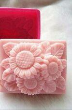 Silikonform für Seifen,Kerzen, Betongiessen Betondeko Seifenform Gießform Blumen