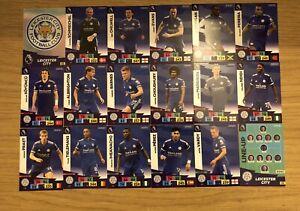 Panini Adrenalyn XL Liga Premier 2020/21 Equipo Conjunto de todos 18 Leicester City