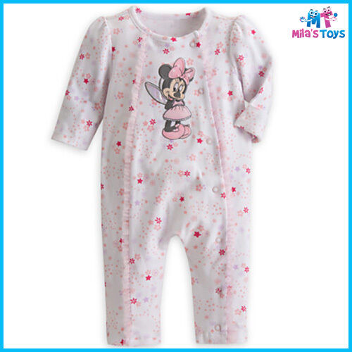 0-9 Months Romper Hat Bib brand new Disney Minnie Mouse Gift Set for Baby
