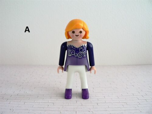 Playmobil WOMAN LOT Pretty In Purple Mom Modern HAIR House Hotel Mall Party CP6