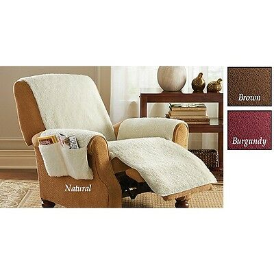 Snuggle Poly Fleece Comfort Recliner With 4 Pockets Cover