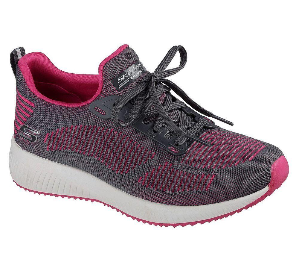 NEU SKECHERS Damen Sneakers Freizeitschuhe Sportschuhe BOBS SQUAD TWINNING Grau