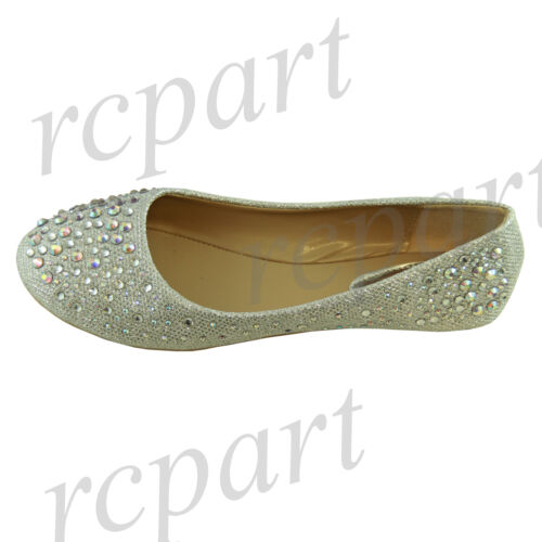 New women/'s shoes blink blink ballet flats rhinestones party casual silver