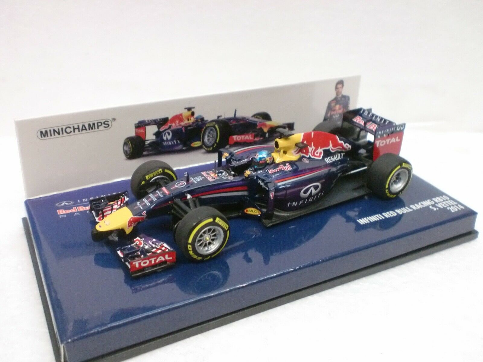 MINICHAMPS  - F1 INFINITI rosso BULL RACING RB10 - S. VETTEL
