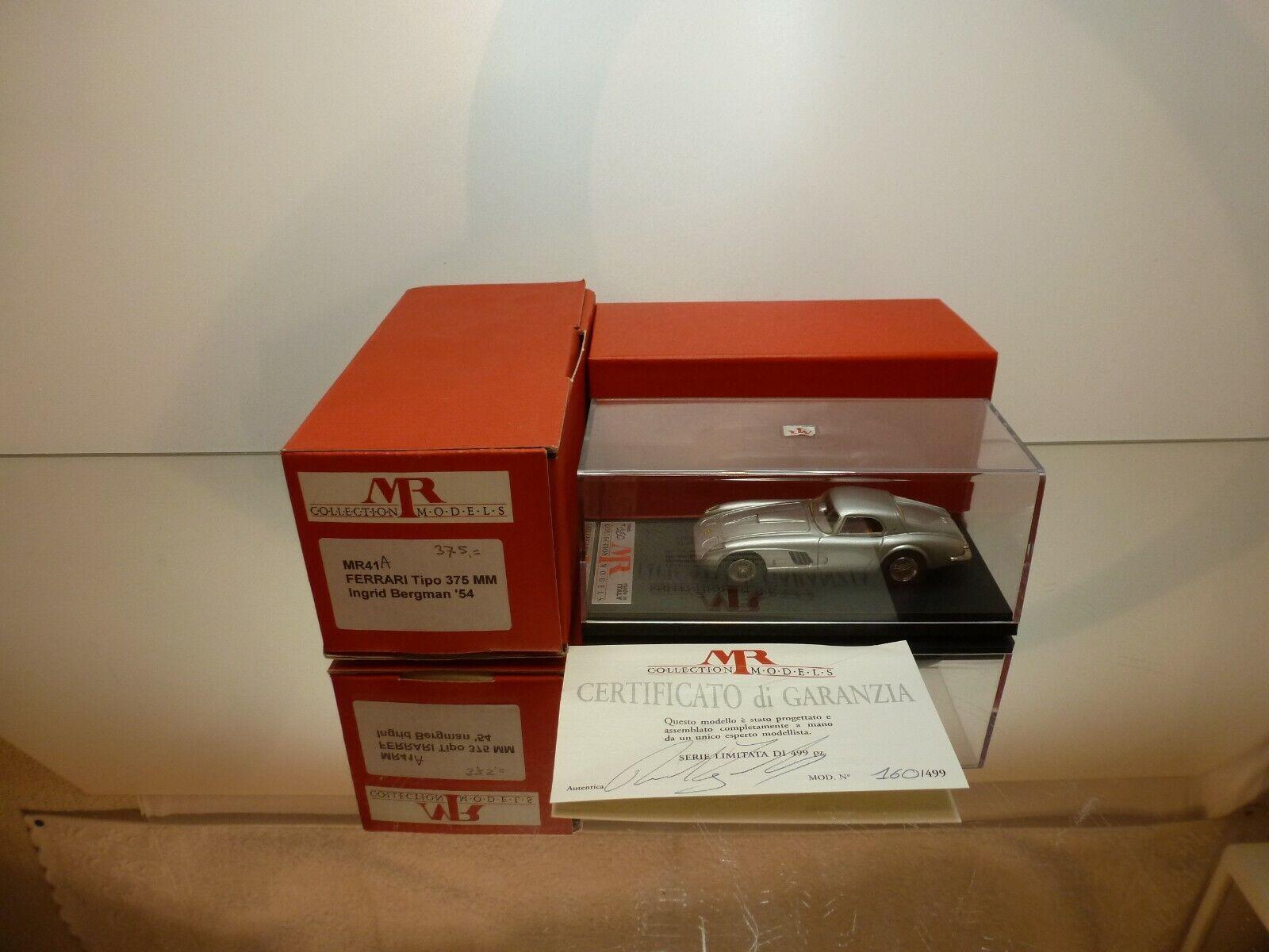 consegna e reso gratuiti MR modelloS FERRARI TIPO 375 375 375 MM - INGRID BERGuomo 1954 - 1 43 RARE - MINT IN scatola  consegna veloce