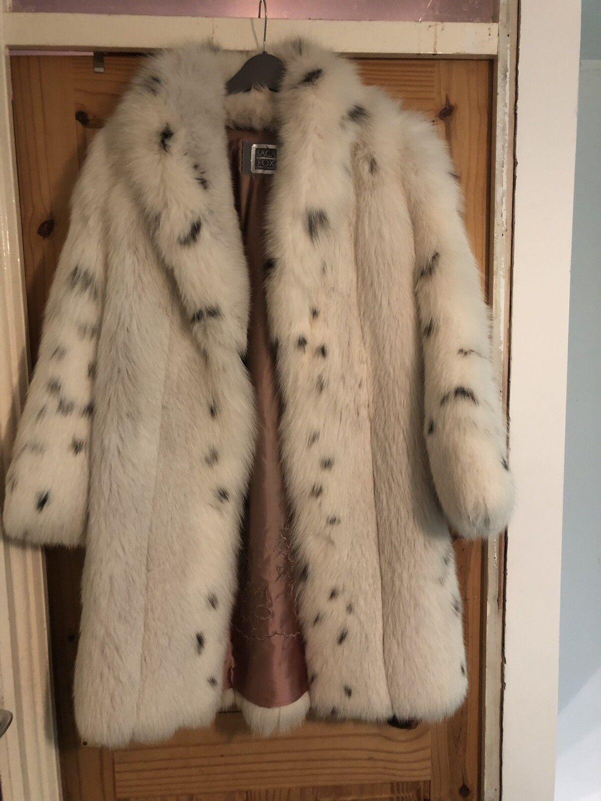 Saga Arctic Fox Real Fur Coat 12-14 12-14 12-14 8ea9b7