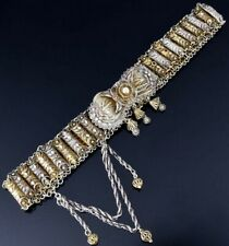 GORGEOUS 19thC ANTIQUE RUSSIAN GOLD GILT FILIGREE SOLID SILVER DRESS BELT