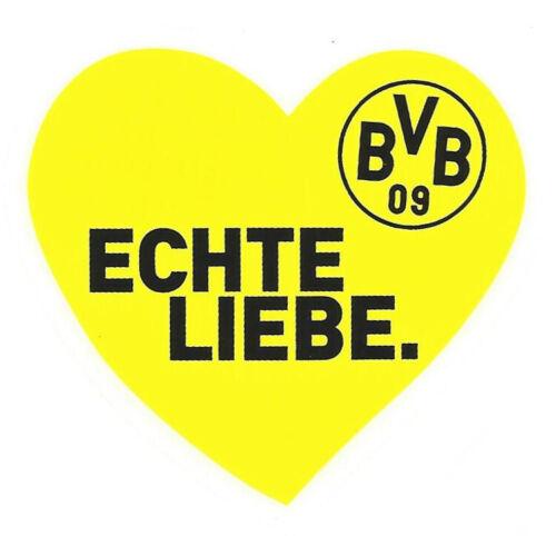BVB Autoaufkleber 4er Set Auto Aufkleber Borussia Dortmund 09 Wappen Herz Fahne