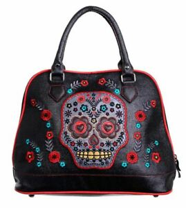 Borsa Skull Banned in tracolla Candy Sugar Apparel nera Muerto a ecopelle aqqXwEr
