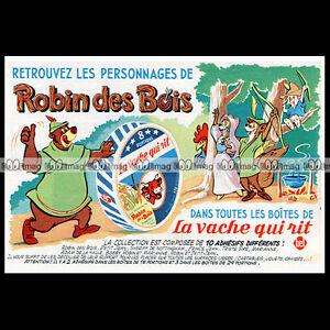 LA-VACHE-QUI-RIT-Fromage-Robin-des-Bois-Hood-DISNEY-1974-Pub-Advert-Ad-B588
