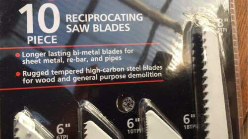 Brand New 10 PCs Reciprocating Saw Blades