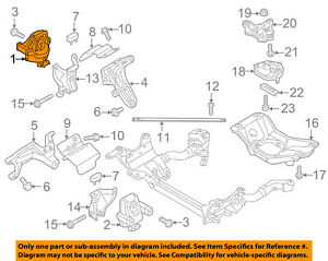 audi oem 13-15 q5-motor motor montaje/torsión puntal 8r0199381as | ebay  ebay