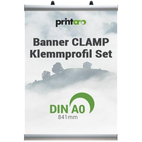 CLAMP das ALU-KLEMMSCHIENEN-SET für STOFFBANNER 84,1 cm