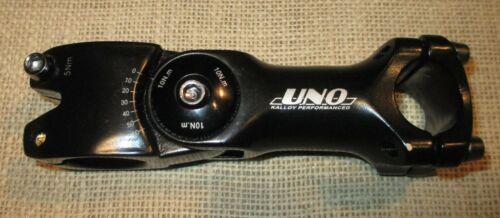 Tige réglable Threadless 1 1//8 110 mm barbore 25.4 mm Vélo Tige UNO Kalloy 5 Presque comme neuf