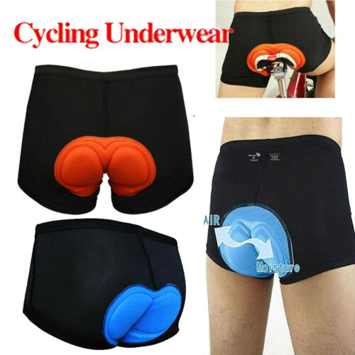 3D Gel Bike Underpants Underwear Bicycle Shorts with Seat Pad Easy Mens