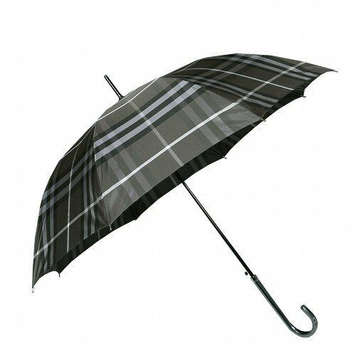 c9395fcab Burberry Japan Made Ltd Charcoal Grey & Black Tartan Walking Stick Umbrella-  for sale online | eBay