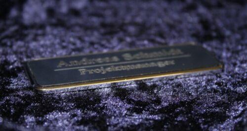 Magnet zur Befestigung Nadel o Namensschild Ansteckschild silber mit Rahmen